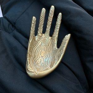 Gold ring holder
